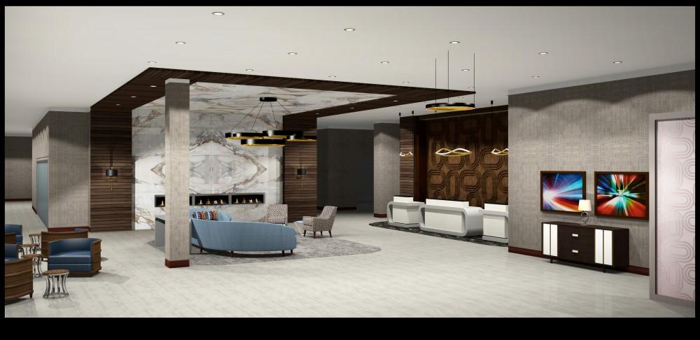 Indianapolis project lobby - Barrett Design Studio